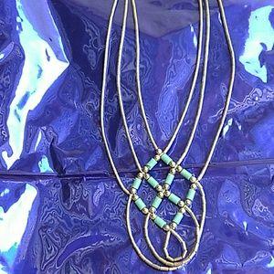 Vintage Sterling LiquidSilver & Turquoise Necklace